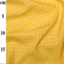 100% Cotton Lemon Yellow Polka Dot Print Fabric x 0.5m